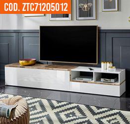 porta tv bicolore