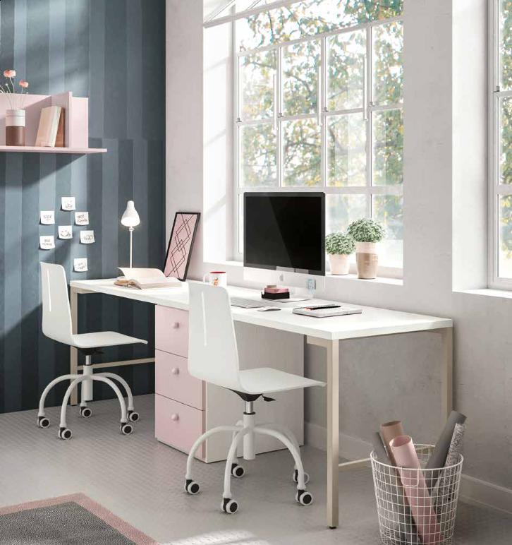 scrivania pop rosa