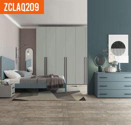 Camera moderna completa in finitura Cenere e Grigio dorian