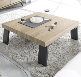 "Tavolino moderno, di design, ""Wood"" Sherwood Oak 86x86 cm"
