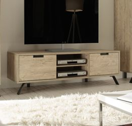 "Porta TV ""Wood"" Moderno di Design, Sherwood Oak 156x51 cm"