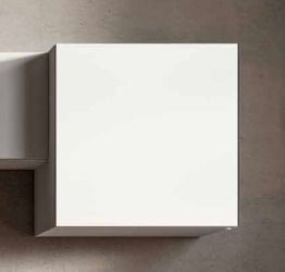 Pensile battente 60x60, bianco opaco, made in Italy