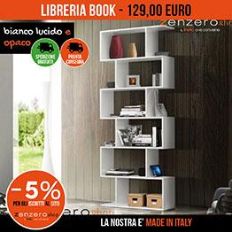 Libreria bianca in offerta